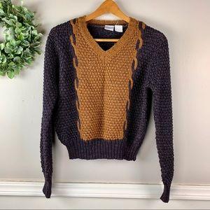 Levi Strauss & Co Vintage V-Neck Knit Sweater